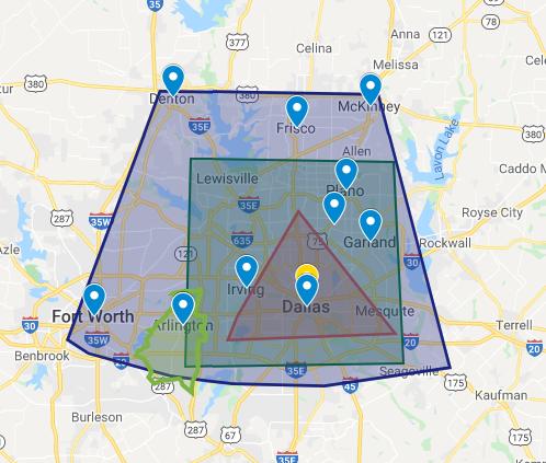 Dallas Paints - Arlington Painters - Arlington Service Area
