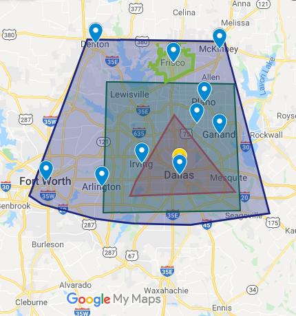 Dallas Paints - Frisco Painters - Frisco Service Area